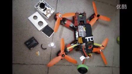QAV210穿越机FPV 失控bug导致150米高空日水泥地
