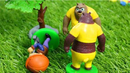 熊大偷了光头强的斧子