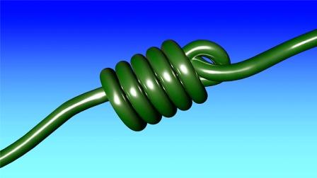 C4D教程 做一个简单的绳子打结动画