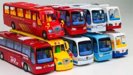 警察巴士消防巴士校车快速巴士超级巴变压器 公共汽车玩具 改造公共汽车玩具 总线变形金刚
