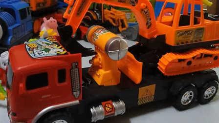 小豬佩奇汪汪隊玩具視頻38 恐龍工程車托馬斯
