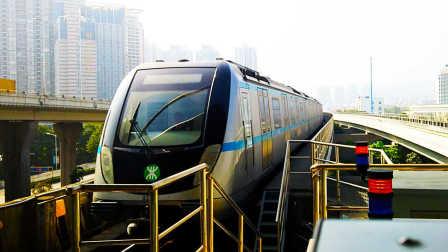[2017.1]深圳地铁3号线 布吉-木棉湾 列车进站 运行与报站
