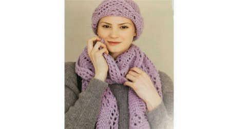 小雪成人女士帽子第一集:花边的织法毛线的织法视频全集