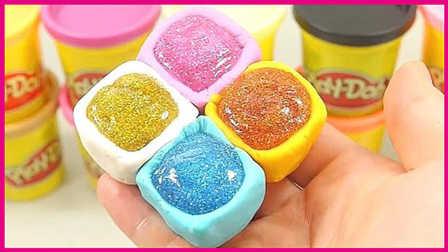 可可宝宝美味夹心饼手工DIY;创意小玩具试玩培乐多彩泥粘土!#PomPom玩具#