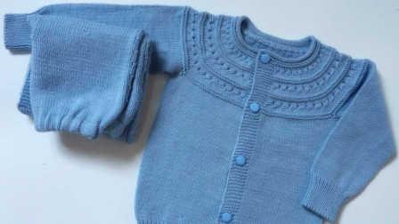 【昭尔茹悦】第37集【喜悦】从上往下织儿童婴儿开衫毛衣
