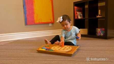Babystep 教孩子玩圆柱组合玩具
