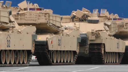 看美军大批坦克运抵德国港口:数量达2800件   导向新闻