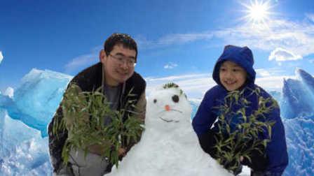 【中美混血家庭】冰雪奇缘般的冬日堆雪孩子