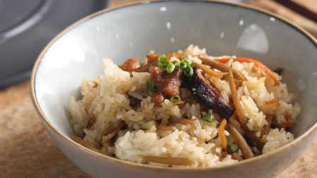 鸡肉牛蒡糯米饭