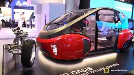 在NAIAS展出的Rinspeed绿洲纯电动汽车 - 设计相当前卫