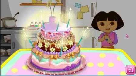 朵拉生日蛋糕  儿童小游戏