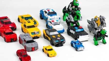 冒险RID大黄蜂侧翼强大的 Grimlock车辆机器人 恐龙变形金刚  恐龙应变 玩具恐龙 红黑白绿灰车