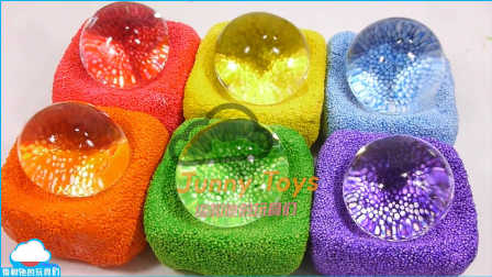 1000度高温刀 VS Orbeez泡沫粘土 学习 颜色粘液果冻 冰淇淋 【 俊和他的玩具们 】