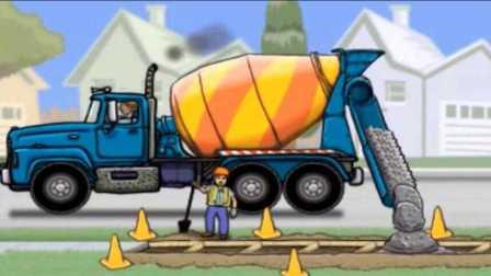 熊出没开挖掘机动画片 挖掘机工作视频表演大全