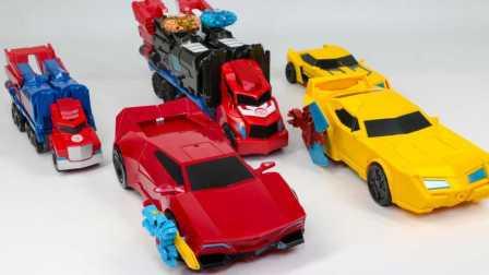 黄红色和蓝色变形金刚 装配机器人 汽车 玩具 不寻常的机器玩具 新车玩具2017