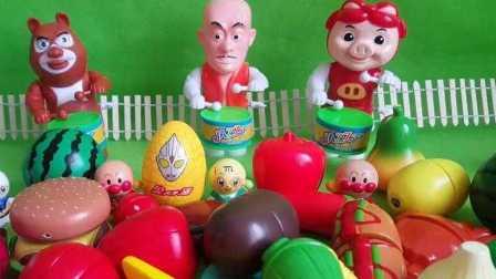 猪猪侠自己动手烧烤红薯,面包超人厨房玩具,假面骑士 灌篮高手 钢铁侠