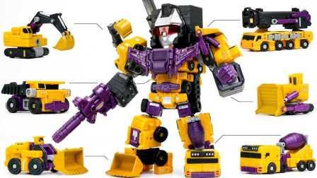 玩具 建设一个大型的机器人 黄玩具套 变形金刚  2017 变压器黄色颜色constructicon破坏6机器人组合车辆