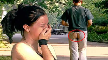 越看越想笑恶作剧 千万看好自己的裤子
