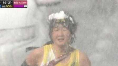 """京都马拉松接力赛暴雪中举行,画风迷之""""凄惨"""""""