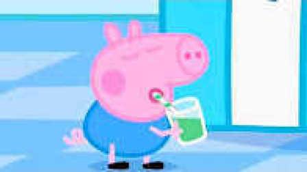 小猪佩奇遇到恐龙 小猪佩奇喝果汁 110