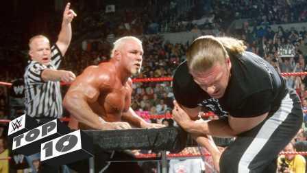 WWE十大体能比拼 王中王Triple H挑战掰手腕