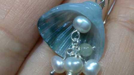 科科手工翡翠贝壳珍珠耳环制作教程