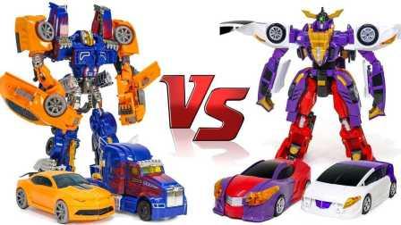 建筑两大机器人 大卡车玩具变形金刚大黄蜂和擎天柱VS转动Mecard 我的世界玩具 新年快乐2017  灵动汽车侠   叫万代  连起来汽车侠 儿童玩具