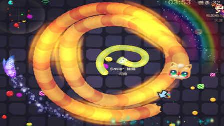 蛇蛇争霸 团战模式迷路的小黄蛇