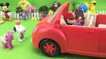 爱探险的朵拉开车撞到人并进行救治