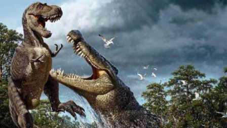 恐龙格斗组装机械暴龙 巨型三角龙合体大变身
