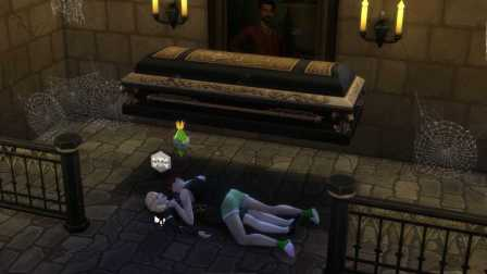 模拟人生4吸血鬼扩充包吸血鬼夫妻的幼儿成长之路 17