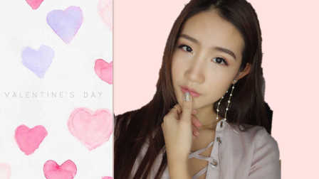 【JessLaoban】valentine's day Peachy Pink 情人节妆容