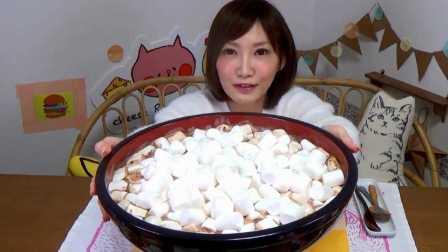 200个棉花糖泡巧克力牛奶 一口气喝6斤 木下大胃王 中文字幕 吃货木下