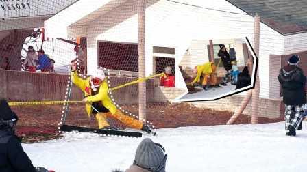 妹纸首尔学滑雪囧态百出 26