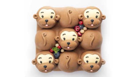 莫夫教室-九格小猴蛋糕(多边形卡通)制作教程