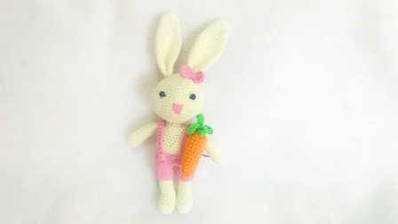 【小脚丫】大耳朵兔2(腿和身体)毛线钩法毛线玩具的钩法学钩玩偶钩法图解视频教程