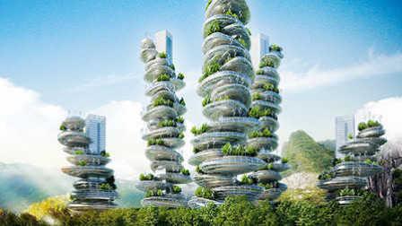 有未来科技感的垂直农场 87