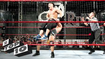 WWE铁笼密室淘汰赛史上 十大惊掉下巴的疯狂瞬间