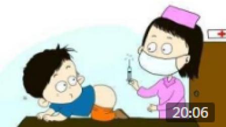 小朋友生病了 护士姐姐小朋友打针