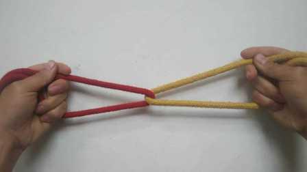 魔术教学:绳子穿越  绳子连锁 原来这么简单