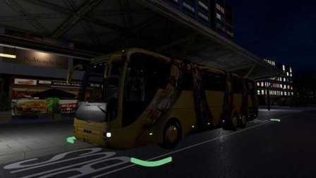 『干部来袭』Fernbus Simulator 新司机上夜路贼吓人 汉堡→基尔 德国长途客车模拟