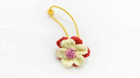 【小脚丫】(发饰)毛线钩法毛线玩具的钩法学钩玩偶毛线简易织法