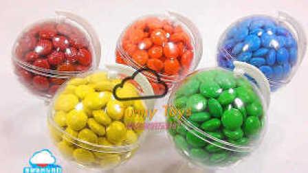 制作 DIY颜色地球 巧克力豆M&M 惊喜鸡蛋玩具 学习颜色玩 橡皮泥冰淇淋太空沙 动力沙砂 培乐多彩泥 【 俊和他的玩具们 】