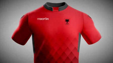 阿尔巴尼亚国家队2017-18赛季主客场球衣