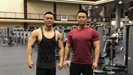 麦大湿&一介粗人,双胞胎背部训练