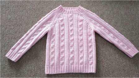 依可爱视频编织教程女孩花式打底衫1花样