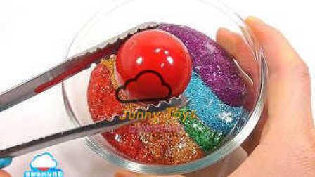 1000度球VS颜色闪光煤泥组合粘土学习颜色煤泥冰淇淋 黏土 泥土 惊喜玩具大全 【 俊和他的玩具们 】
