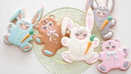 【喵博搬运】【食用系列】超可爱小兔小熊糖霜饼干 >ㅂ<
