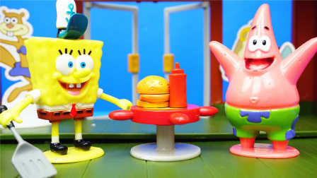 海绵宝宝 蟹老板的餐厅 玩具 煮饭过家家