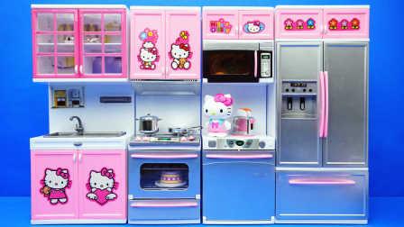 玩乐三分钟 HelloKitty 厨房过家家玩具 凯蒂猫